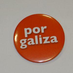 "Chapa coa lenda ""Por Galiza"""