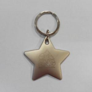 Chaveiro en forma de estrela